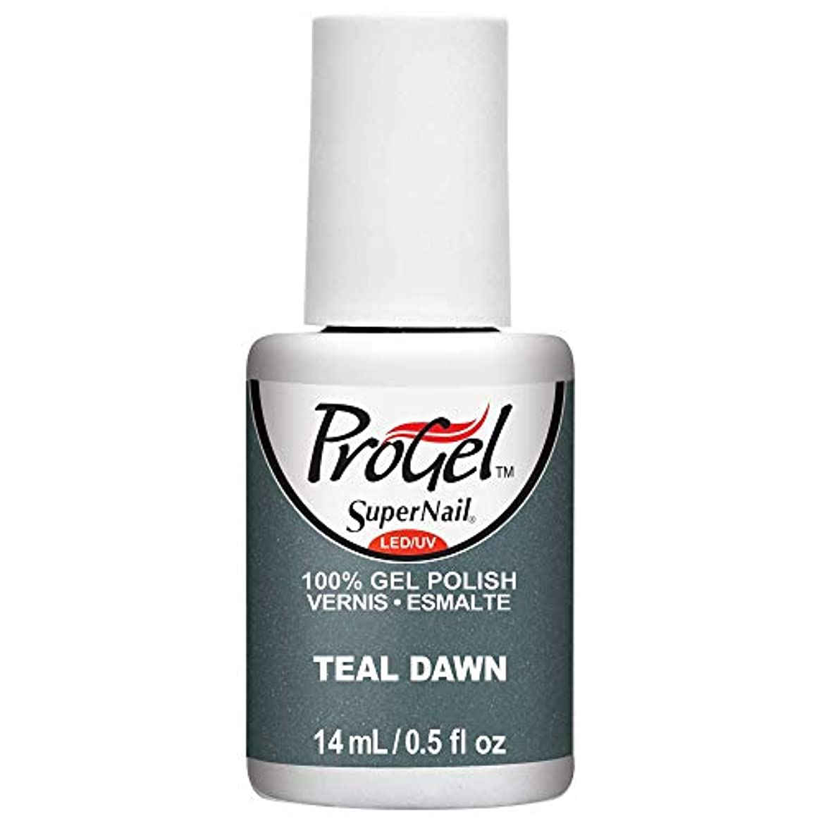 ベンチャー止まるスクランブルSuperNail ProGel Gel Polish - Teal Dawn - 0.5oz / 14ml