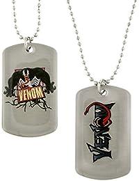Marvel Comics VenomアクションスパイダーマンVillain犬タグネックレス4125