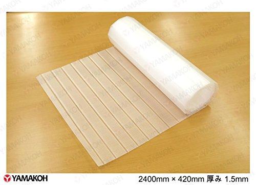 【DIY】巻き物ロールプラダンシート 巾420mm ×長2400mm 厚1.5mm 半透明 【アウトレット】