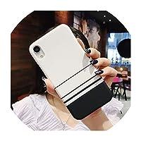 For iphone 8のためのFor iphone 6 6Sプラスハードプラスチックカバー5SE、T4については、X 8 7プラスXR XSマックススリムFor iphoneのためのシンプルなストライプグリッド電話ケース
