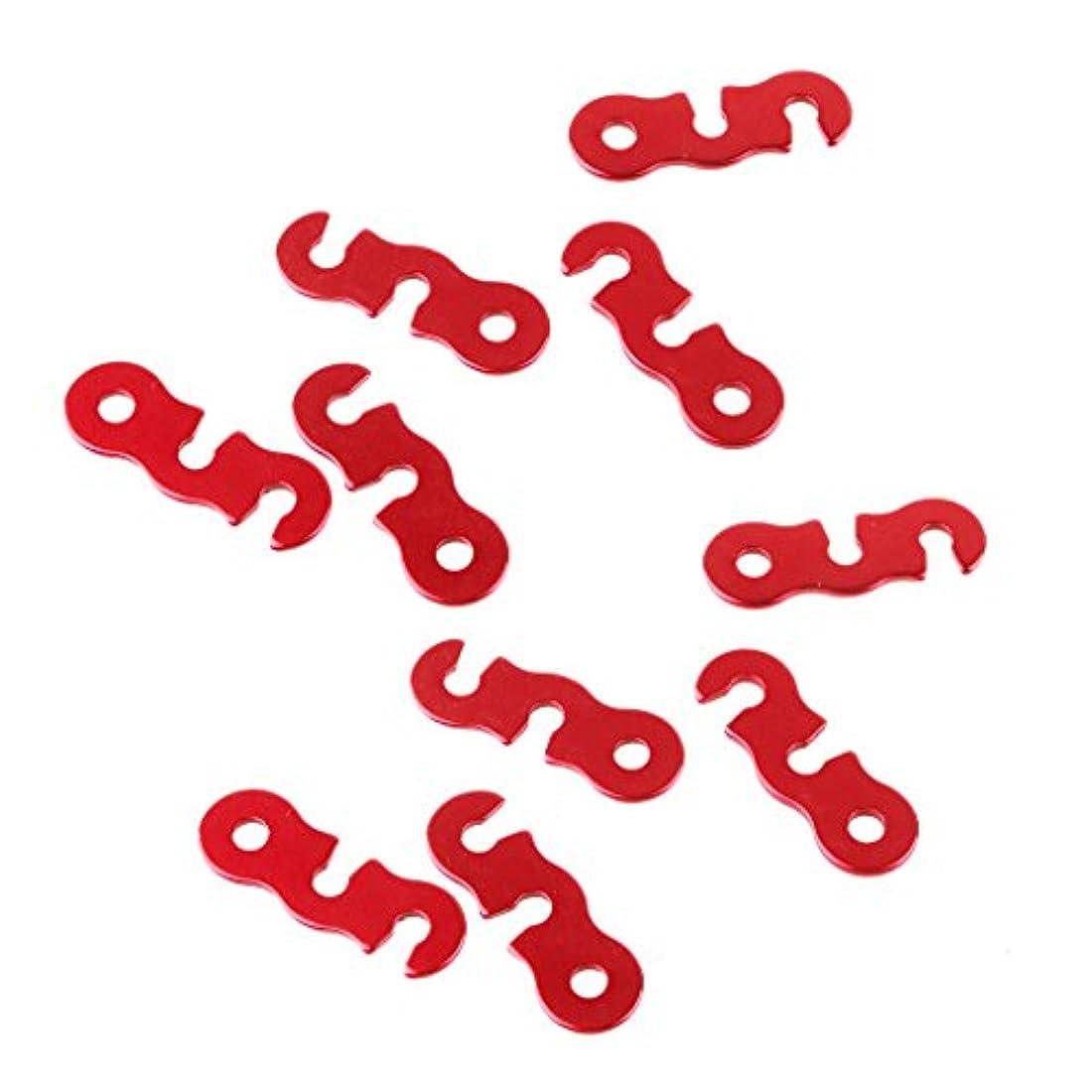 手綱メイエラバンジージャンプNon-brand 10本の赤いアルミニウム合金のキャンプテントGuylineのランナーロープの締め付けテンショナー