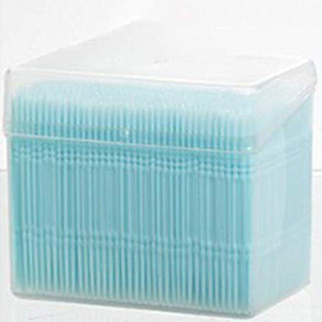 感心するばか船外1100ピース/セットダブルヘッド使い捨て歯フロス衛生デンタルフロス歯間つまようじ健康用歯のクリーニングオーラルケア(Color:blue)