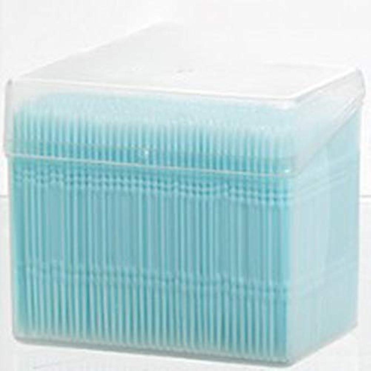 弾力性のあるカプセルイノセンス1100ピース/セットダブルヘッド使い捨て歯フロス衛生デンタルフロス歯間つまようじ健康用歯のクリーニングオーラルケア(Color:blue)