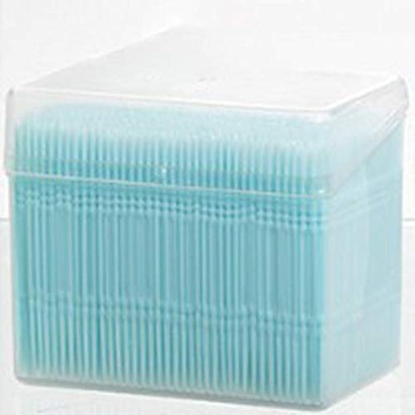 ブラウンパドル流暢1100ピース/セットダブルヘッド使い捨て歯フロス衛生デンタルフロス歯間つまようじ健康用歯のクリーニングオーラルケア(Color:blue)