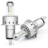 H4 Headlight Bulbs Leader Car Accessories LED Automobile Bulbs with Advanced LED Chip and All-in-One Conversion kit-80W/8000LM/6500K- 3 Year Warranty (Upgraded Version) (H4) [並行輸入品]