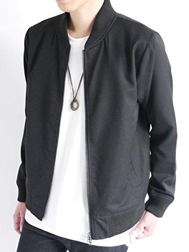 (モノマート) MONO-MART スーツ地 MA-1 ジャケット 厚手 ストレッチ TR エムエーワン メンズ ブラック XLサイズ