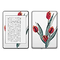 igsticker kindle paperwhite 第4世代 専用スキンシール キンドル ペーパーホワイト タブレット 電子書籍 裏表2枚セット カバー 保護 フィルム ステッカー 016287 チューリップ 植物 花