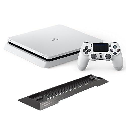 PlayStation 4 グレイシャー・ホワイト 1TB (CUH-2000BB02) 【Amazon.co.jp限定】アンサー PS4用縦置きスタンド 付