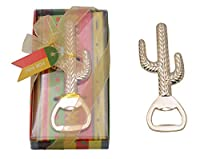 Pack of 24 Wedding Birthday Beer Bottle Openers Party Favor Decorations Baby Shower Return Gifts for Guest Souvenirs Party Supplies (24pack Cactus Gold) [並行輸入品]