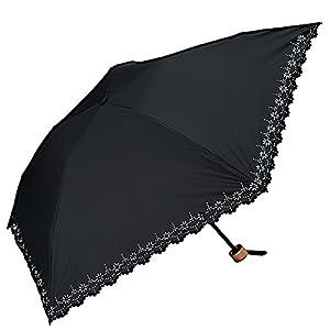 w.p.c (ワールドパーティ) 折りたたみ傘 手開き 日傘/晴雨兼用傘 遮光 遮熱 軽量 全4色 ブラック 5本骨 50cm UVカット 99% 以上 コンパクト 801-508BK