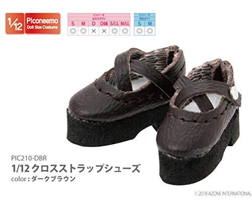 ピコニーモ用 1/12 クロスストラップシューズ ダークブラウン (ドール用)