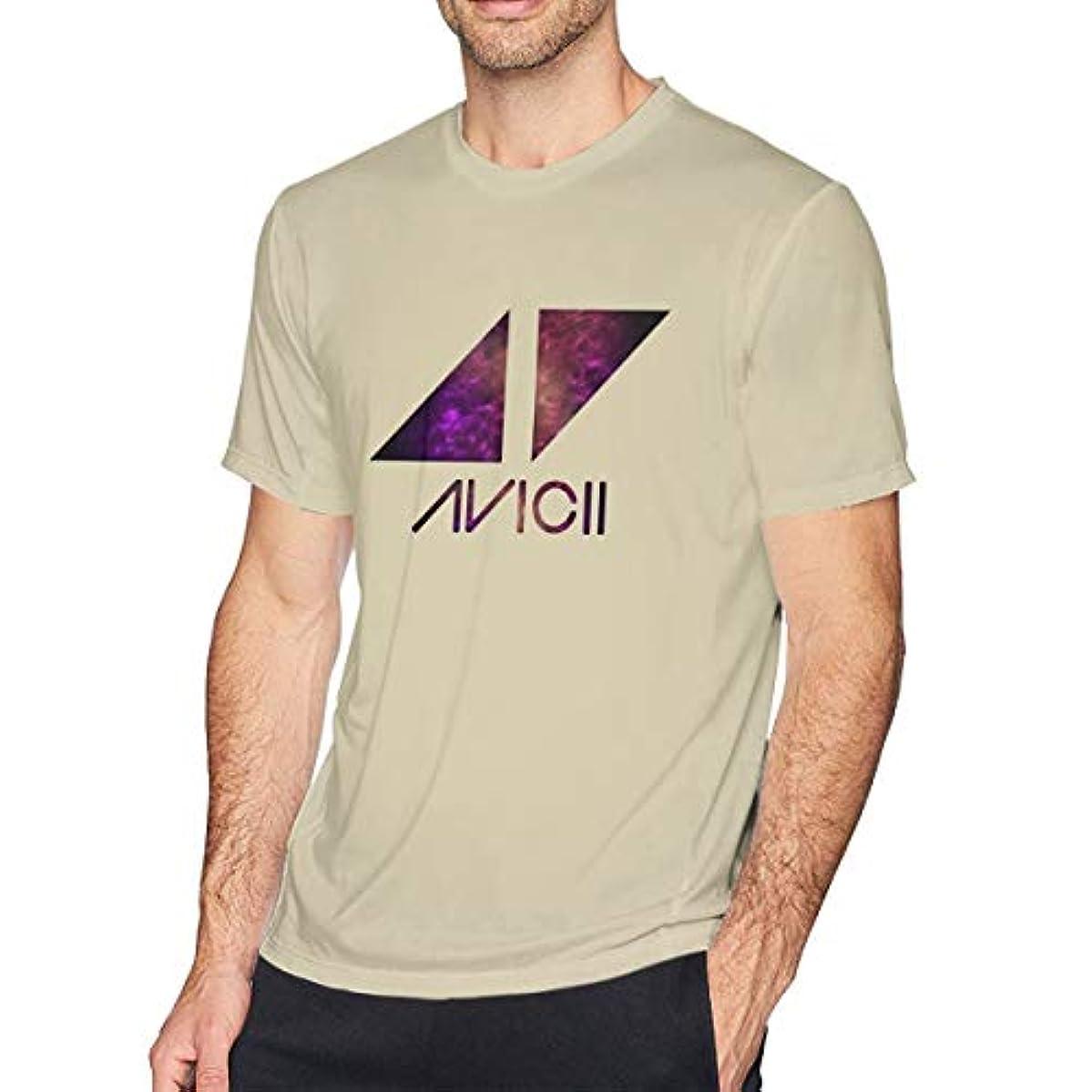 一葉草のtシャツ 半袖 メンズ 純綿 プリント 音楽 Avicii ドライ素材 プリント 印象的なTシャツ 着回 夏向き 爽やか ロゴTシャツ TEE トップス カットソー オシャレ オトク