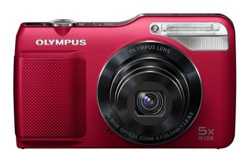 OLYMPUS デジタルカメラ VG-170 レッド 1400万画素 光学5倍ズーム 15m強力フラッシュ ハイビジョンムービー 3.0型LCD 広角26mm VG-170 RED