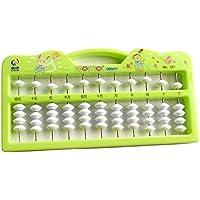 幼児期のゲーム 5ビーズ11行ビーズカウンター(グリーン)をカウントするポータブル子供のそろばん