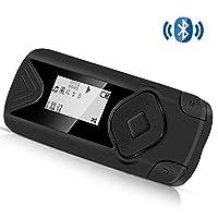 AGPTEK Bluetooth搭載 クリップ MP3プレーヤー 音楽/録音/FMラジオ 内蔵8GB マイクロSDカード最大128GBに対応 ブラック