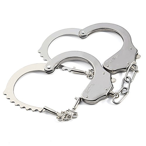 KUUQA 2組 手錠 警察コスプレ小物 フリーサイズ