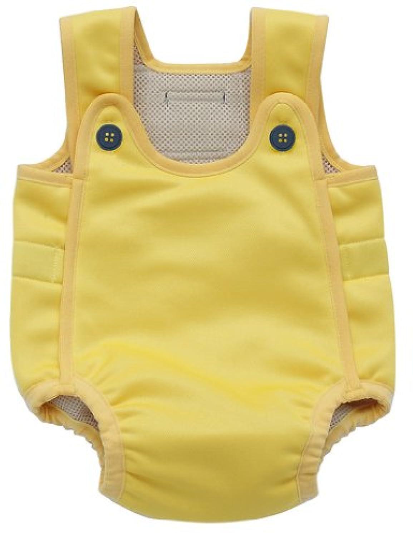 2層保温タイプ ベビー水着?幼児用水着「ベビーアクアスーツ」イエローM