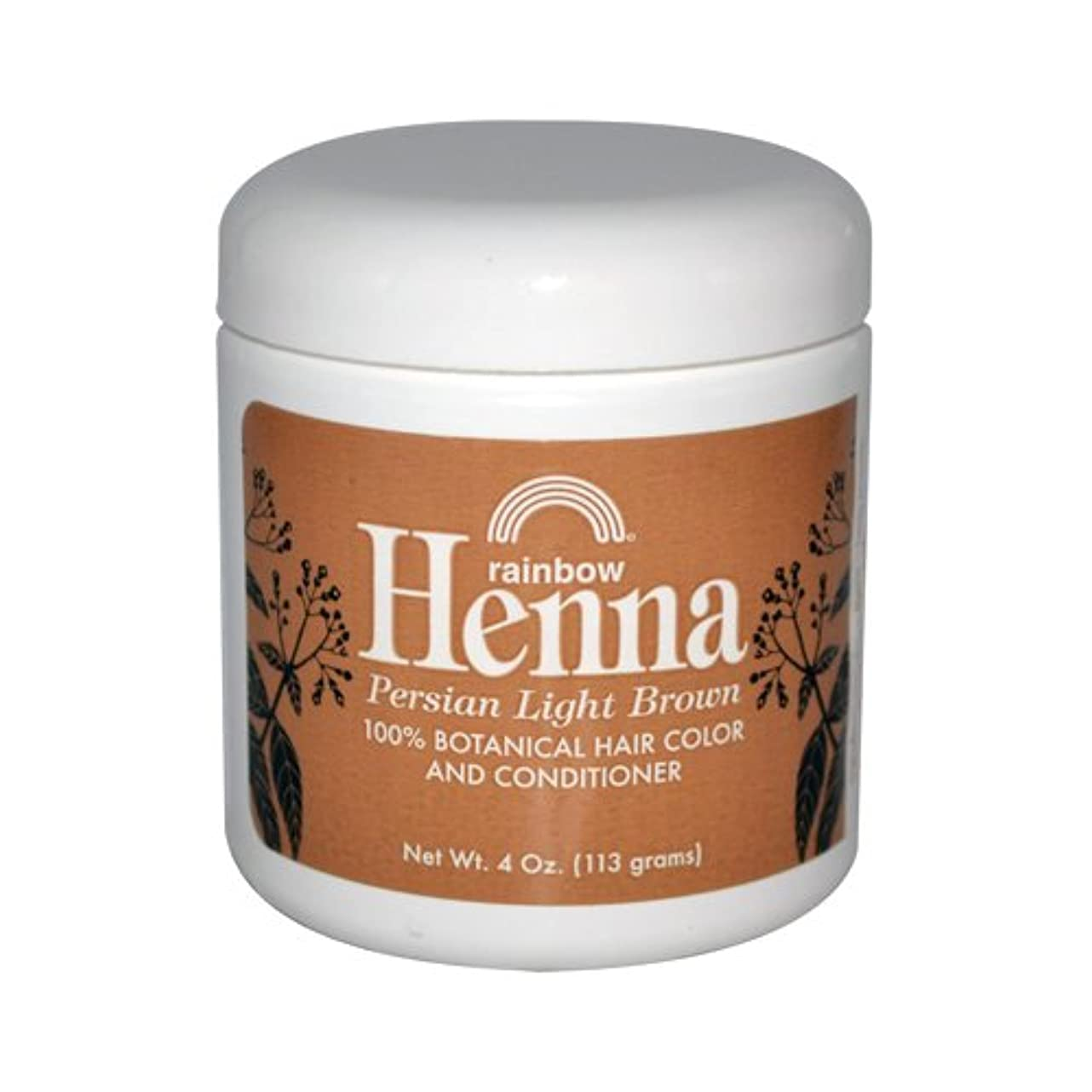 でもバングラデシュ文化Rainbow Research Henna Persian Light Brown Hair Color and Conditioner Organic 113 g (並行輸入品)