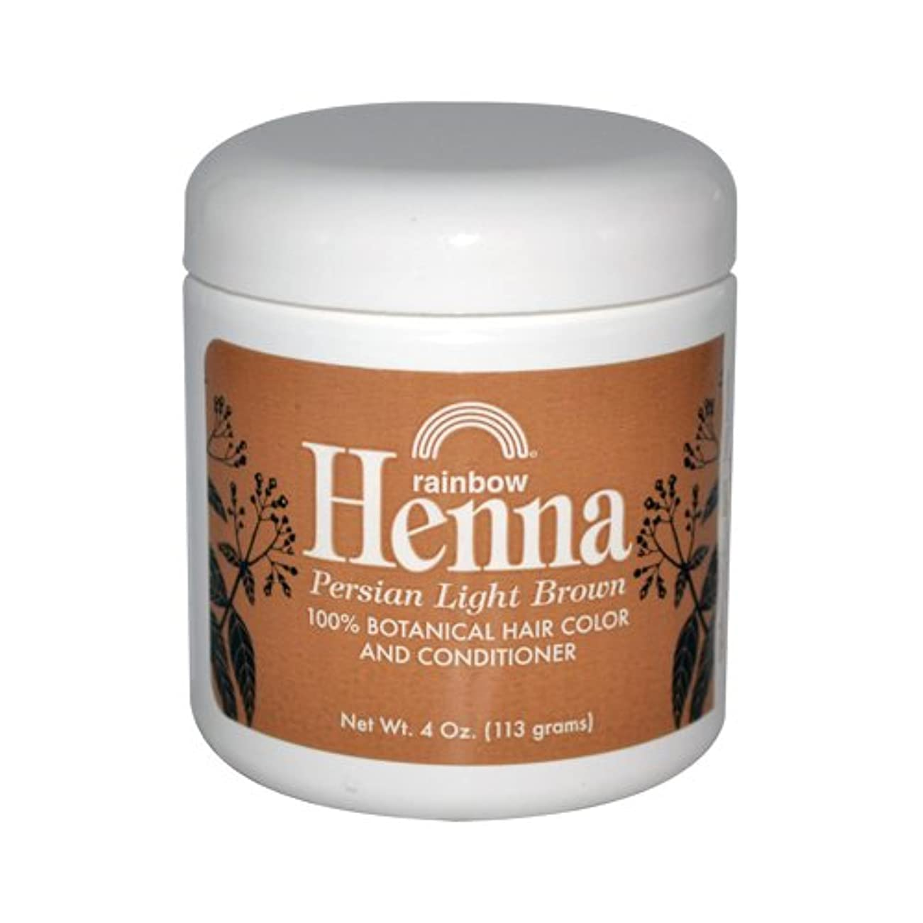 狂った影響を受けやすいですメアリアンジョーンズRainbow Research Henna Persian Light Brown Hair Color and Conditioner Organic 113 g (並行輸入品)