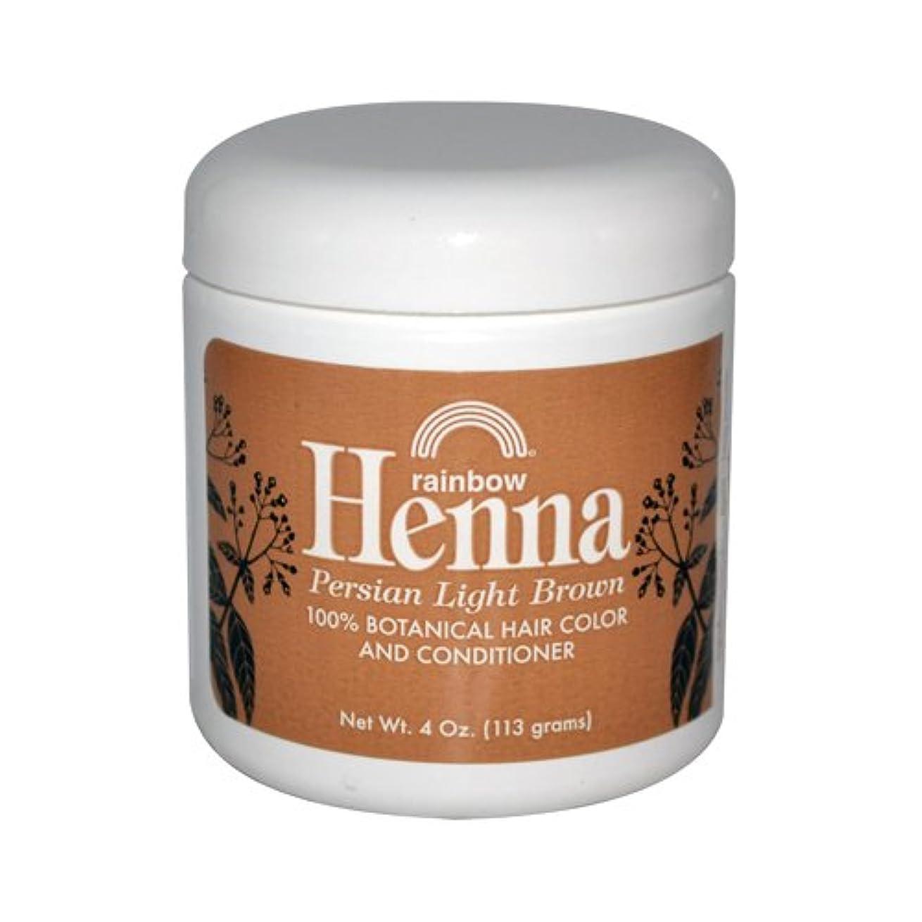 よく話されるコンパクト説明Rainbow Research Henna Persian Light Brown Hair Color and Conditioner Organic 113 g (並行輸入品)