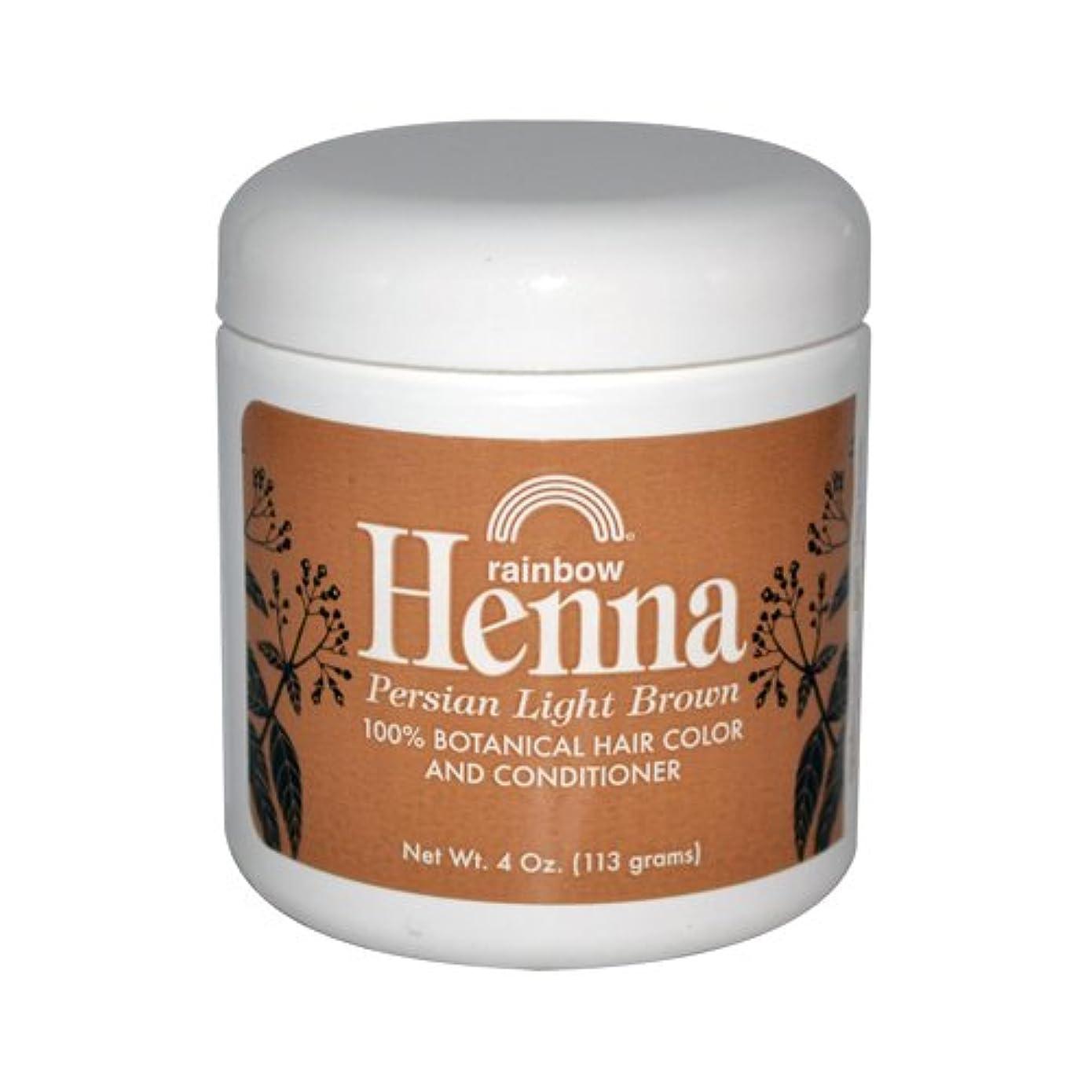 補正ソースとは異なりRainbow Research Henna Persian Light Brown Hair Color and Conditioner Organic 113 g (並行輸入品)