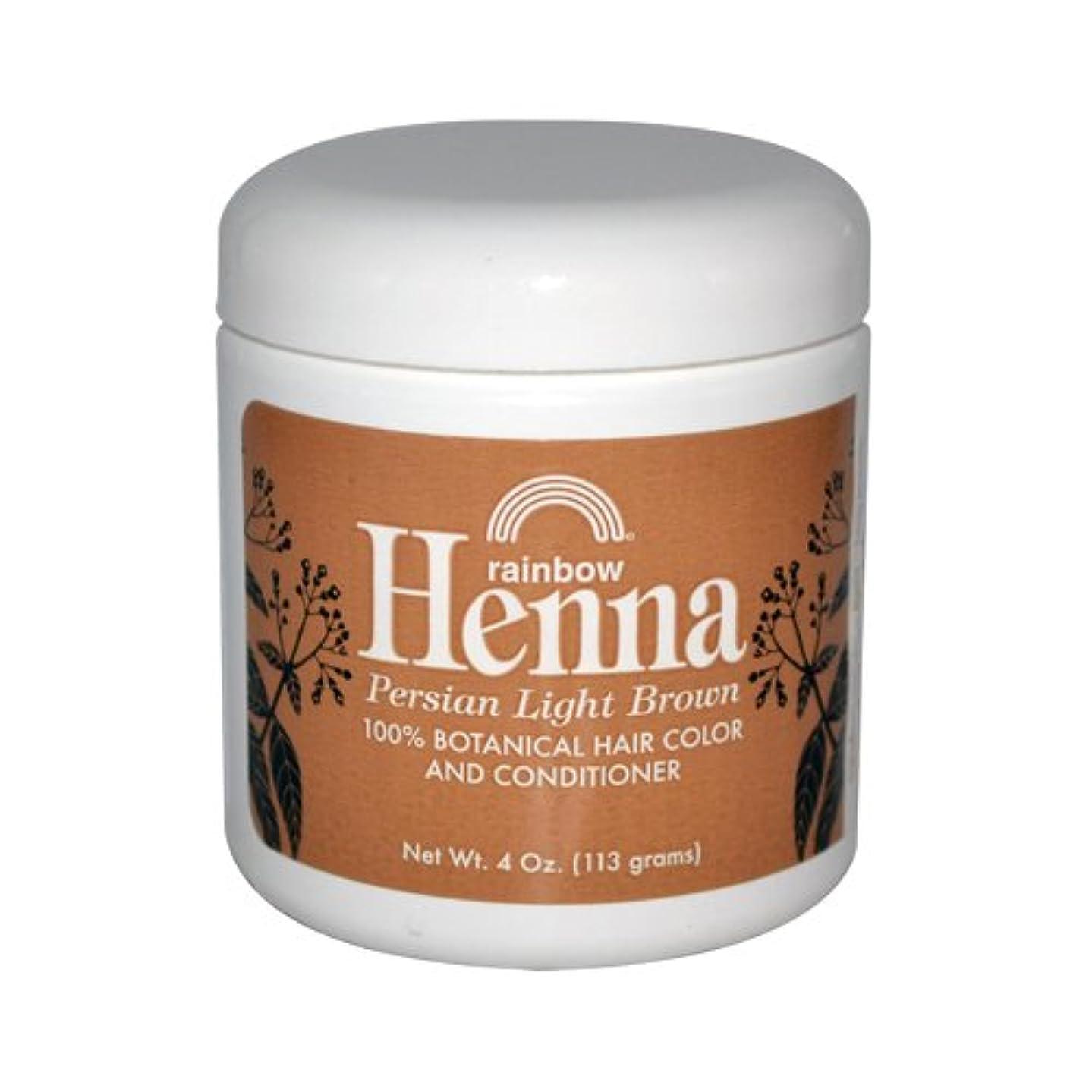 飼い慣らす示す出来事Rainbow Research Henna Persian Light Brown Hair Color and Conditioner Organic 113 g (並行輸入品)