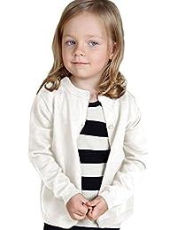 (ケイグラッソ) 子供服 シンプル 無地 カーディガン 長袖 ニット (全5色) セーター 丸首 女の子 男の子 兼用