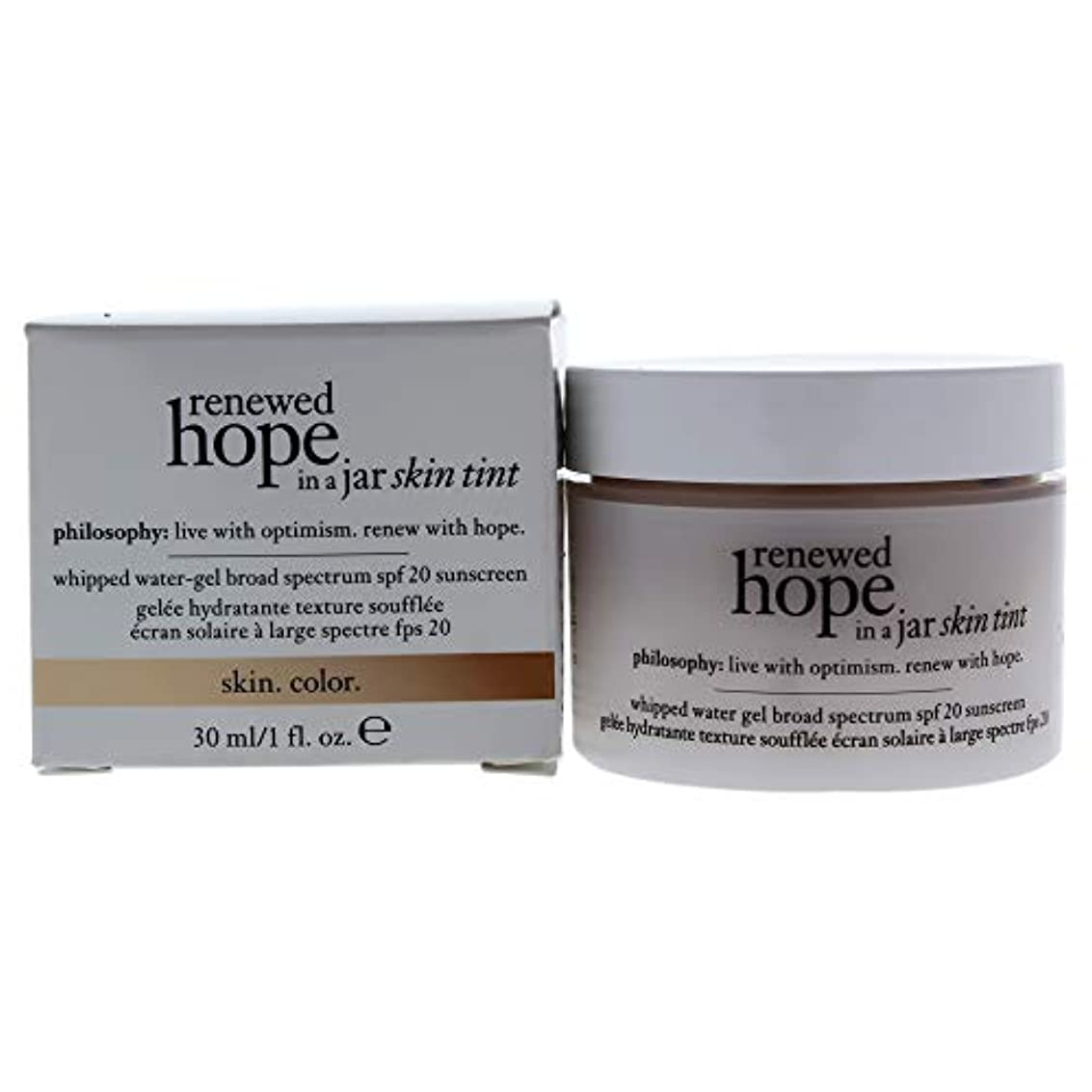 治世普遍的な突撃フィロソフィー Renewed Hope In A Jar Skin Tint Whipped Water Gel SPF 20 - # 6.0 Almond 30ml/1oz並行輸入品