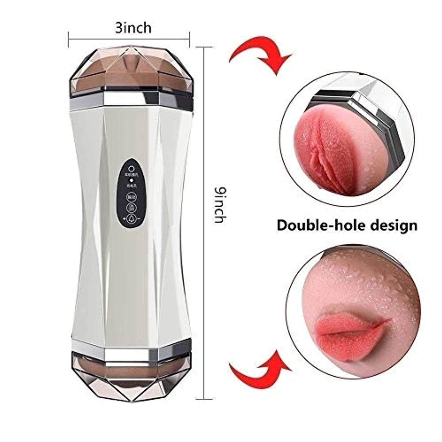 Risareyi 強力な振動モードを備えた男性用自動吸盤2 in 1インテリジェントヘッドフォンモードマスタベーションデバイスUSB充電スポーツ用品