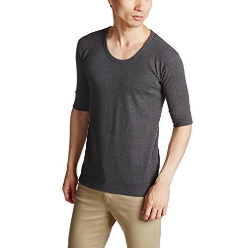 (アヴィレックス)AVIREX AVI-DAILY  Uネック5分袖 6143508 19 CHARCOL M Tシャツ