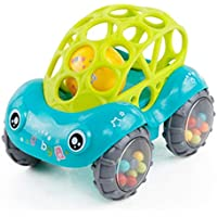 chiak Baby ユニセックス ソフト 車 揺れるベル ガラガラと歯 おもちゃ 子供用 楽しいおもちゃ ガラガラガラ 8 x 11.5 x 8cm グリーン QCVM033367_G#