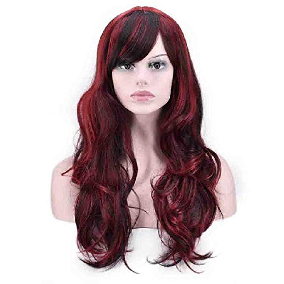 ブリリアント証拠安西女性のための色のかつら、ポニーテールのロリータカーリーコスプレウィッグ、高密度温度合成ウィッグコスプレヘアウィッグ、耐熱繊維ヘアウィッグ