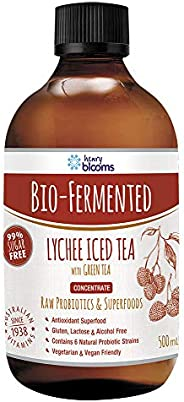 Henry Blooms Bio-Fermented Probiotic Antioxidant Lychee Iced Tea withgreen Tea Concentrate, 500ml