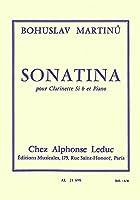 マルティヌー : ソナチネ (クラリネット、ピアノ) ルデュック出版