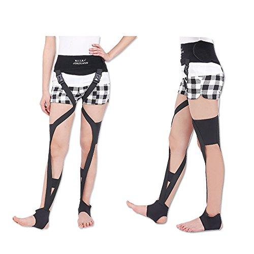 O脚矯正ベルト 美脚 X脚 矯正 サポーター 昼夜両用効果型 歩行可能 健康グッズ 女性用 調整可能 (S, ブラック)