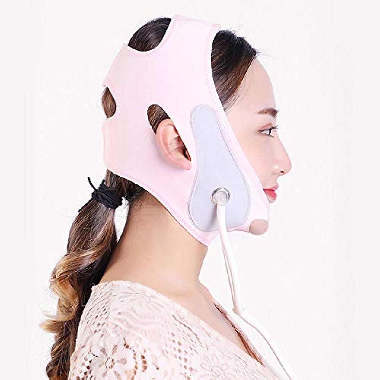 風社説出くわす膨脹可能なVのマスク、持ち上がる咬筋の筋肉収縮のあごの睡眠ベルト/膨脹可能なベルト/包帯を持ち上げる