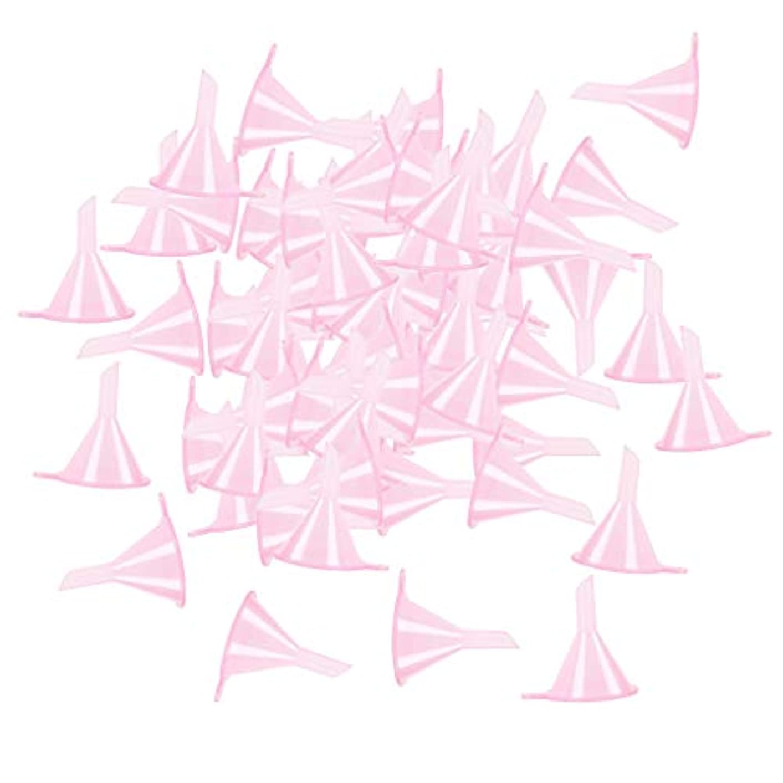 りフォーカス改革小分けツール ミニ ファンネル エッセンシャルオイル 液体 香水用 全100個 3カラー - ピンク