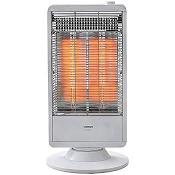 [山善] 遠赤外線カーボンヒーター(900W/450W 2段階切替) 自動首振り機能付 ホワイト DC-S097(W) [メーカー保証1年]