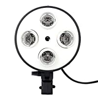 Fancierstudio 4 Socket Photo Bulb Adapter - Converts 1 Socket into 4 four light head 4 light Head [並行輸入品]