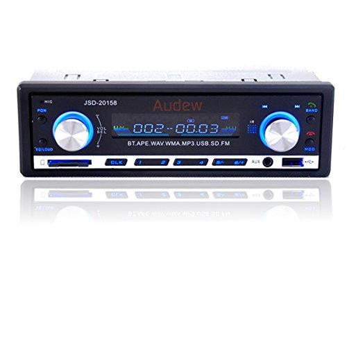 AUDEW 車載 カーオーディオ Bluetooth MP3...