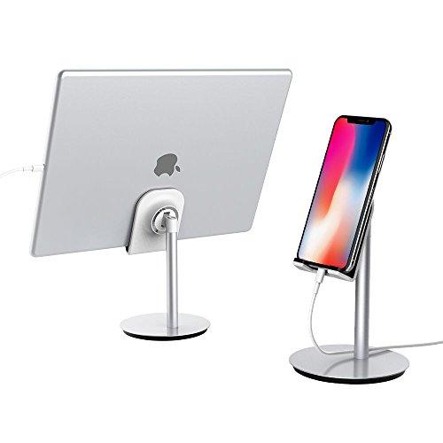 スマホスタンド/タブレットスタンド Elekin 角度調整可能 ゲーム機,iPhone, iPad, Samsung Galaxy,Switch,Sony, Nexus,Kindle等 シルバー