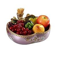 CJCNL フルーツ皿 - 印象的な創作再利用可能な装飾のエレガントなフィニッシュでバスケットプラッターをサービング