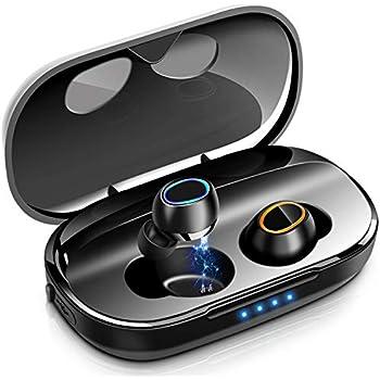 【低音重視 Bluetooth5.0 EDR搭載】 Bluetooth イヤホン 150時間連続駆動 HiFi 高音質UP 3Dステレオサウンド 自動ペアリング IPX6防水 完全 ワイヤレス イヤホン 左右分離型 片耳 両耳とも対応 スポーツ ブルートゥース イヤホン マイク内蔵 3000mAh大容量 通話 Siri対応 CVC8.0 ノイズキャンセリング SBC AAC対応 iPhone/ipad/Android適用
