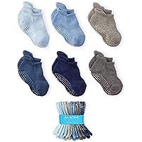 LA Active Grip Ankle Socks - Baby Toddler Infant Newborn Kids Boys Girls Non Slip/Anti Skid
