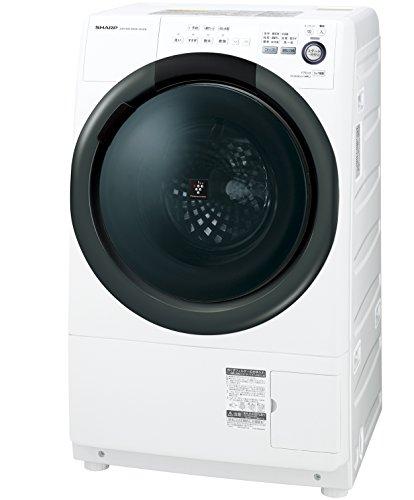 シャープ 洗濯乾燥機  ドラム式 7kg 右開き ホワイト E...