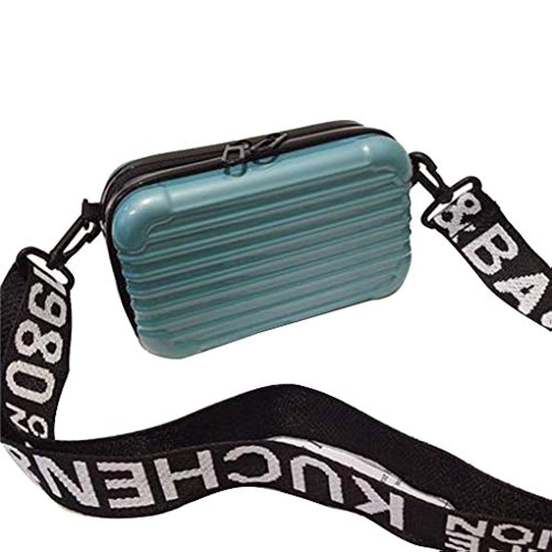 建物ワックス小売Nerhaily 化粧ポーチ 多機能ポーチ 収納バッグ 軽量 旅行 出張 お出かけ 持ち運び便利 スーツケース型 5色選択可 (青)
