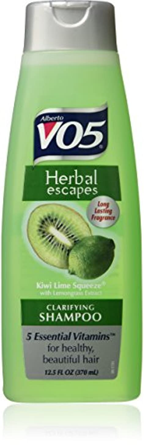 商標東フライトAlberto VO5 Herbal Escapes Kiwi Lime Squeeze Clarifying Shampoo for Unisex, 12.5 Ounce by VO5 [並行輸入品]