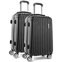 Wanderlite Luggage Suitcase Set with Multi-Colour