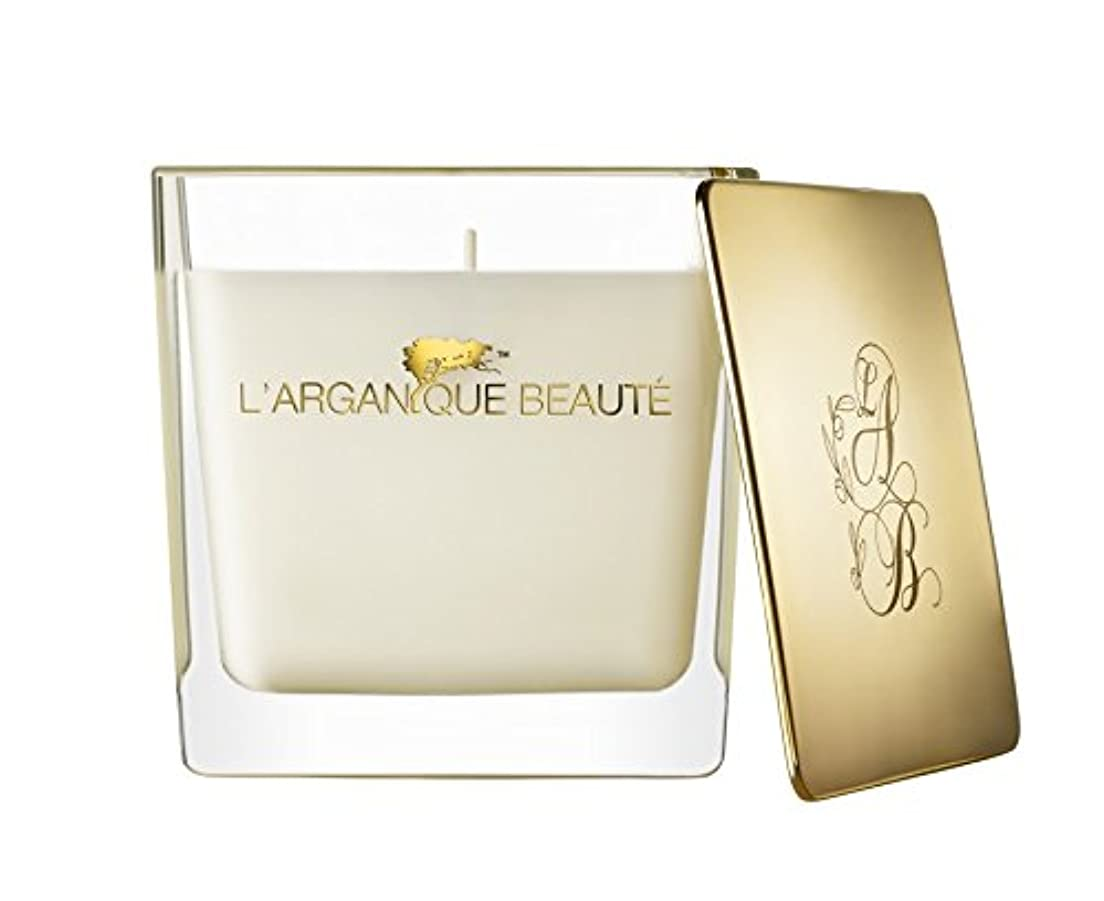 L 'arganique Beaute Luxury Scented Candle、Perfumed香りSpa Candle – Made w/100 %大豆ワックス、鉛フリーWick、純粋なモロッコアルガンオイルEssence...