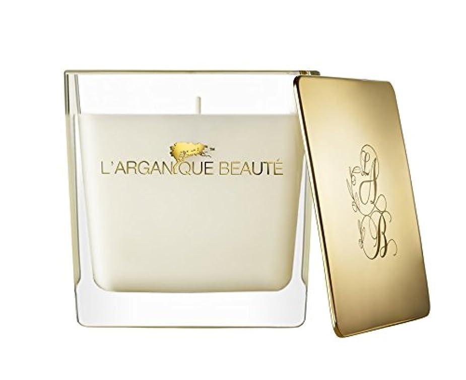 内部掃除珍味L 'arganique Beaute Luxury Scented Candle、Perfumed香りSpa Candle – Made w/100 %大豆ワックス、鉛フリーWick、純粋なモロッコアルガンオイルEssence...